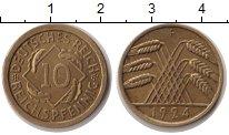 Изображение Монеты Веймарская республика 10 пфеннигов 1924 Медь XF 10 рейхспфеннигов. В
