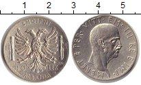Изображение Монеты Албания 10 лек 1939 Серебро XF Итальянская оккупаци