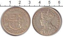 Изображение Монеты Маврикий 1 рупия 1934 Серебро XF