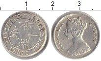 Изображение Мелочь Гонконг 10 центов 1900 Серебро XF Королева Виктория.