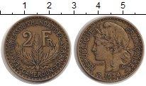 Изображение Монеты Камерун 2 франка 1924 Латунь XF Французский протекто