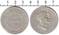 Изображение Монеты Лукка 5 франков 1808 Серебро XF Княжество Лукка и Пь