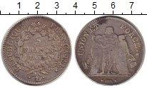 Изображение Монеты Франция 5 франков 1798 Серебро VF