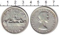 Изображение Монеты Канада 1 доллар 1957 Серебро XF