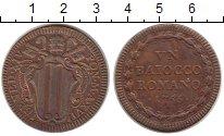 Изображение Монеты Ватикан 1 байоччи 1756 Медь XF