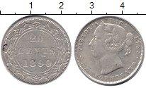 Изображение Монеты Ньюфаундленд 20 центов 1899 Серебро XF