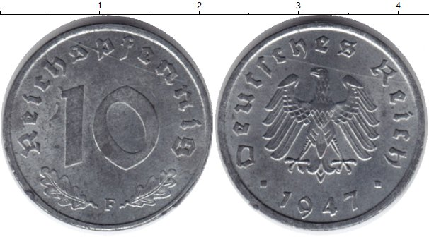 Картинка Монеты Третий Рейх 10 пфеннигов Цинк 1947