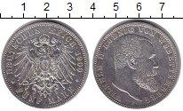 Изображение Монеты Вюртемберг 5 марок 1900 Серебро XF