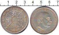 Изображение Монеты Испания 100 песет 1966 Медно-никель XF