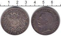 Изображение Монеты Германия Баден 3 марки 1912 Серебро XF