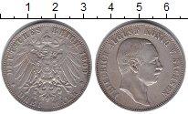 Изображение Монеты Саксония 3 марки 1909 Серебро XF Король Саксена Фридр