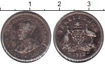 Изображение Монеты Австралия 3 пенса 1912 Серебро VF