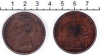 Изображение Монеты Австралия 1 пенни 1857 Медь VF