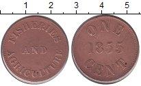 Изображение Монеты Остров Принца Эдварда 1 цент 1855 Медь VF