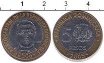 Изображение Монеты Доминиканская республика 5 песо 2005 Биметалл XF