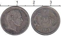 Изображение Монеты Дания 25 эре 1874 Серебро XF Кристиан IX (СS)