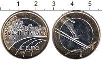Изображение Мелочь Финляндия 5 евро 2016 Биметалл UNC- Лыжный спорт