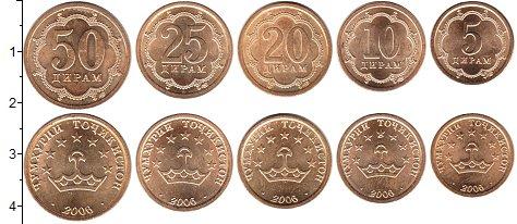 Изображение Наборы монет Таджикистан Таджикистан 2006 2006  XF В наборе 5 монет ном