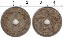 Изображение Монеты Бельгийское Конго 10 сантим 1921 Медно-никель XF