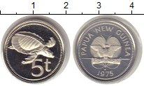 Изображение Монеты Папуа-Новая Гвинея 5 тоа 1975 Медно-никель UNC-