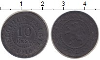 Изображение Монеты Бельгия 10 сантим 1916 Цинк VF