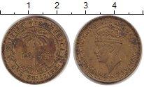 Изображение Монеты Западная Африка 1 шиллинг 1943 Медь XF