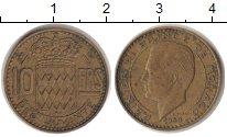 Изображение Монеты Монако 10 франков 1950  XF Райнер III