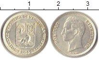 Изображение Монеты Венесуэла 25 сентим 1954 Серебро XF Боливар