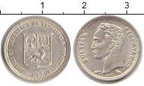 Изображение Монеты Венесуэла 25 сентим 1960 Серебро XF Боливар
