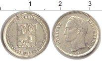 Изображение Монеты Венесуэла 1/4 боливара 1954 Серебро XF Боливар