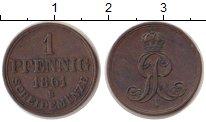 Изображение Монеты Ганновер 1 пфенниг 1861 Медь XF
