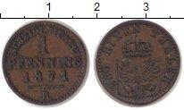 Изображение Монеты Пруссия 1 пфенниг 1871 Медь XF