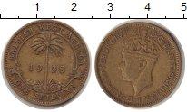 Изображение Монеты Западная Африка 1 шиллинг 1938  XF Георг VI