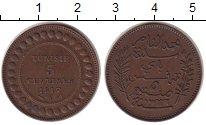 Изображение Монеты Тунис 5 сантим 1917 Медь XF