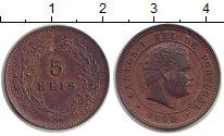 Изображение Монеты Португалия 5 рейс 1899 Медь XF Карлос I.