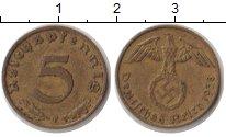 Изображение Монеты Третий Рейх 5 пфеннигов 1938  XF
