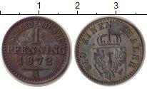 Изображение Монеты Пруссия 1 пфенниг 1872 Медь XF