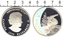 Изображение Монеты Канада 25 долларов 2008 Серебро Proof Елизавета . Олимпиад