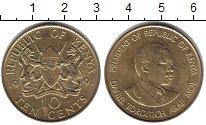 Изображение Монеты Кения 10 центов 1991 Латунь XF Президент Кении  Дан