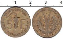 Изображение Монеты Французская Африка 5 франков 1987 Медь VF