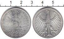 Изображение Монеты ФРГ 5 марок 1967 Серебро XF