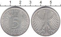 Изображение Монеты Германия ФРГ 5 марок 1972 Серебро XF