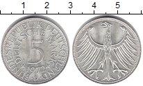 Изображение Монеты ФРГ 5 марок 1972 Серебро XF