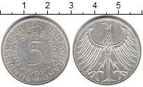 Изображение Монеты ФРГ 5 марок 1969 Серебро XF