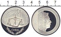Изображение Монеты Люксембург 25 евро 2002 Серебро Proof 50 - летие Европейск