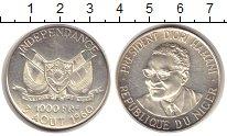 Изображение Монеты Нигер 1000 франков 1960 Серебро Proof-
