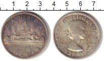 Изображение Монеты Канада 1 доллар 1963 Серебро VF