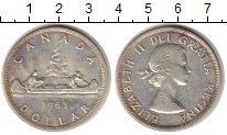 Изображение Монеты Канада 1 доллар 1963 Серебро XF