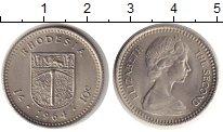 Изображение Монеты Великобритания Родезия 10 центов 1964 Медно-никель UNC