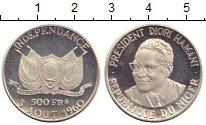 Изображение Монеты Нигер 500 франков 1960 Серебро Proof